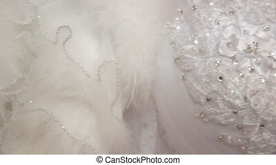 Wedding dress - Beautiful wedding dress. Close-up