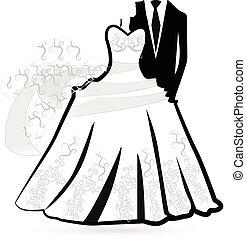 Wedding dress -bride and groom logo - Wedding dress -bride...