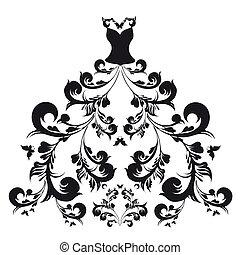 wedding dress - it is done in the program illustrator