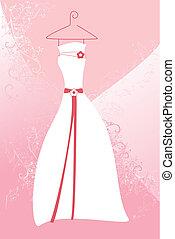 Wedding dress - A vector illustration of a wedding dress