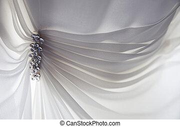 Wedding Dress Detail - Detail of a wedding dress soft and ...