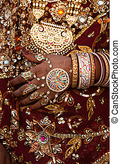 wedding dress details tradional costume in jaisalmer in...
