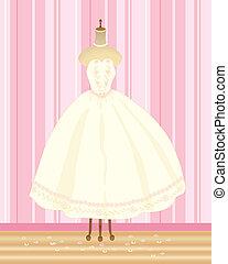 wedding dress - an illustration of a summer wedding dress on...