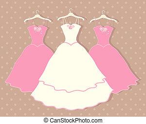 wedding dress - an illustration of a wedding dress on a...