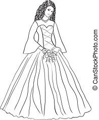 Wedding dress - illustration