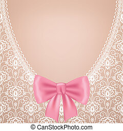 Wedding dress - White lace background with bow. Wedding...