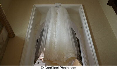wedding dress in the hotel