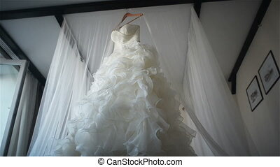 wedding dress indoor