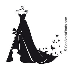 wedding dress - it is done in an illustrator