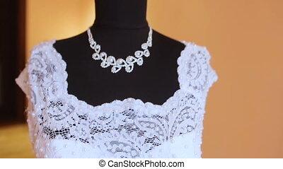 wedding dress on a mannequin