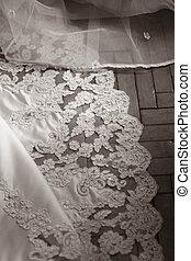 Wedding dress - Bottom of a wedding dress with a manual...