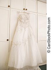 Wedding Dress - Beautiful wedding dress hanging up
