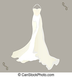 wedding dress with a cape