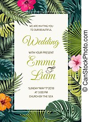 Wedding event invitation card template.