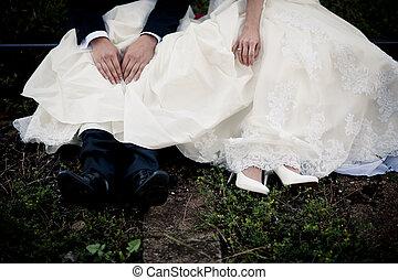 wedding, füße