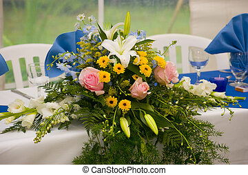 wedding floral arrangment - Floral arrangement on a wedding...