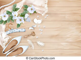 Wedding Floral Background - Wedding floral top view...