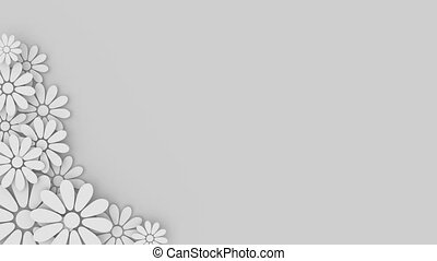 wedding floral background with place for text - loopable