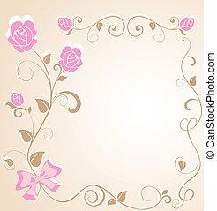 Wedding floral border