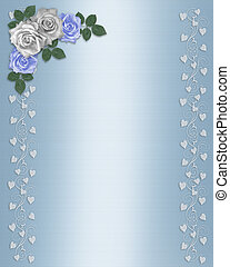 Wedding Floral Border roses