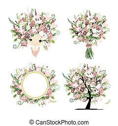 Wedding floral set for your design