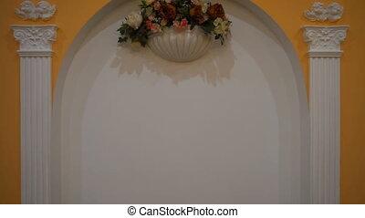 Wedding Flower Arch Decoration. Wedding arch decorated with flowers, Wedding interior, ceremony, wedding arch, flower arch