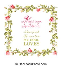 Wedding flower frame.