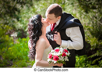 Wedding flowering trees - flowering trees wedding bride and...