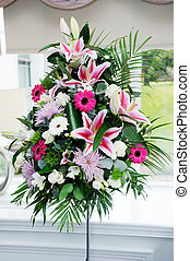 Wedding flowers at ceremony