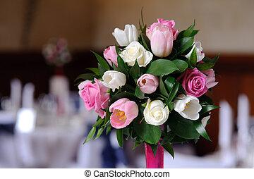 Wedding flowers close up