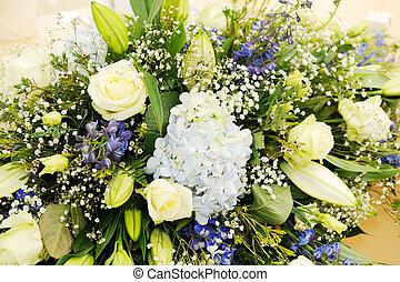 Wedding flowers closeup
