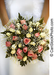 wedding flowers(soft f/x) - bridal bouquet(focus on the...