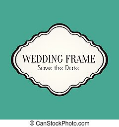 Wedding Frame Save the Date Vector Image