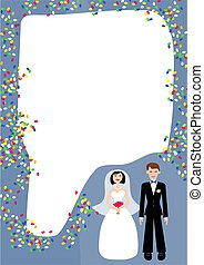 Wedding Frame - the happy couple