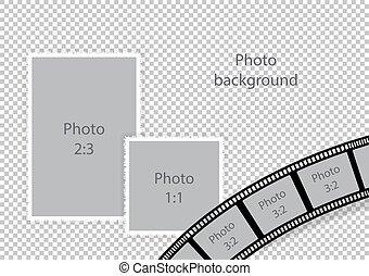 Wedding frames for photomontage