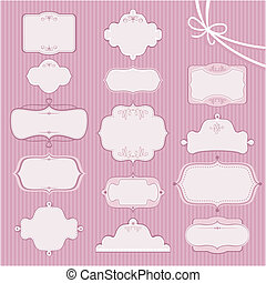 Wedding Frames - Collection of various wedding frames with...