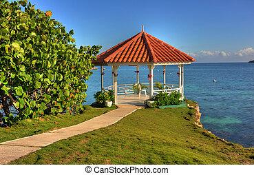 Wedding Gazebo in Jamaica - Wedding gazebo overlooking...