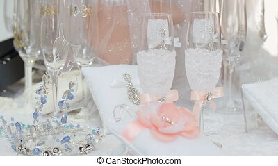 Wedding Glasses on the Table