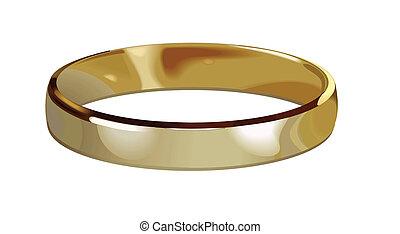 gold ring - wedding gold ring