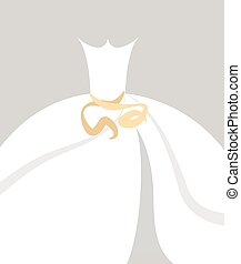 wedding gown background vector illustration.