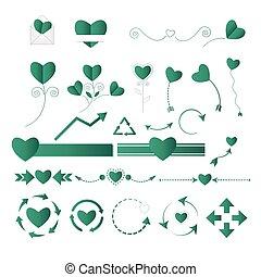 Wedding graphic set vector