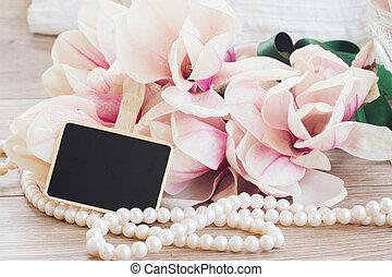 wedding greetings - weding greetings - magnolia flowers and...