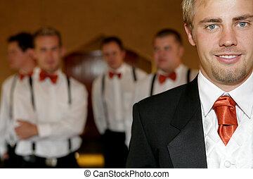 Wedding Groom  - Young groom on his wedding day