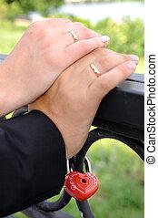 wedding, hände
