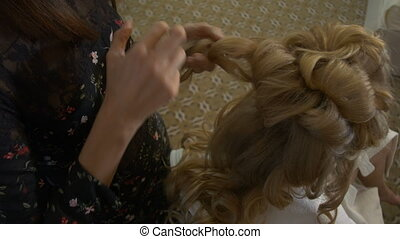 Wedding hairstyle for beautiful bride