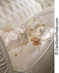 Wedding handbags of the bride