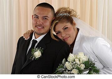 Wedding - Happy bride and groom