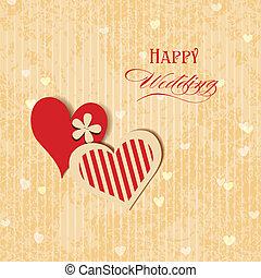 Wedding hearts greeting card