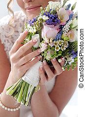 wedding., hermoso, novia