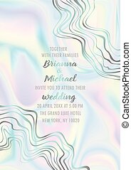 Wedding Holographic Invitation Card
